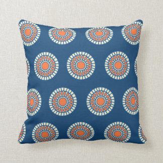 Preppy arabesque polka dot dots tribal pattern throw pillow