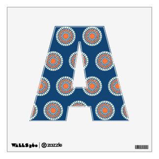 Preppy arabesque polka dot dots tribal pattern wall decal