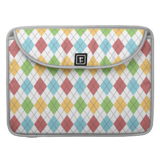 Preppy Argyle Classic Colorful Pattern Sleeve For MacBook Pro