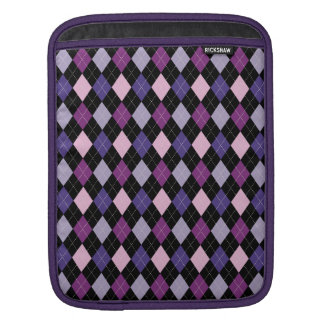Preppy Argyle Classic Fun Purple Pink Passion iPad Sleeve