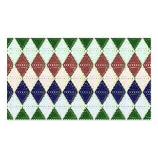 Preppy Argyle Pattern Custom Business Cards