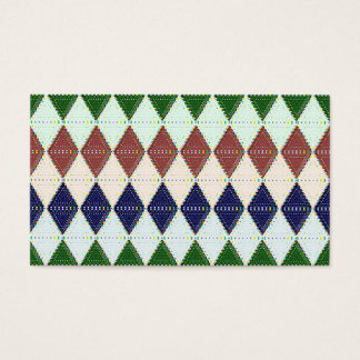 Preppy Argyle Pattern Custom Business Cards