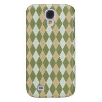 preppy argyle Pern 3 casing Samsung S4 Case