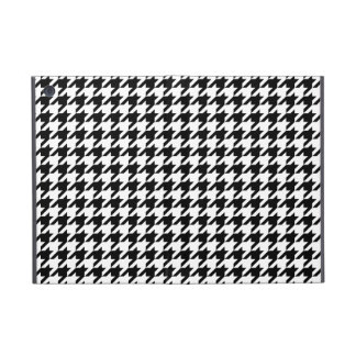 Preppy Black and White Houndstooth Cases For iPad Mini