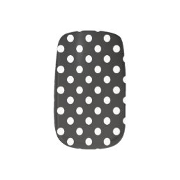 Preppy Black and White Polka Dots Minx Nail Wraps