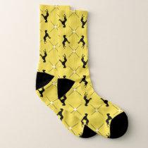 Preppy Black Great Dane Pattern Socks