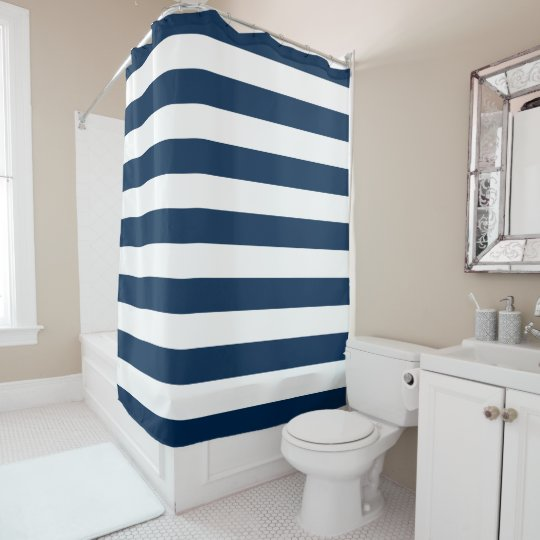 Awesome Preppy Blue And White Stripes Shower Curtain Gamerscity Chair Design For Home Gamerscityorg