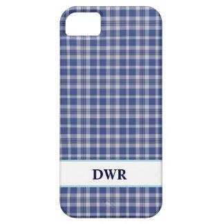 Preppy Blue & White plaid pattern iPhone 5 case