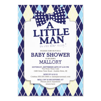 little man baby shower invitations announcements zazzle