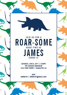 Boy birthday invitations zazzle preppy boy dinosaur birthday party invitation filmwisefo