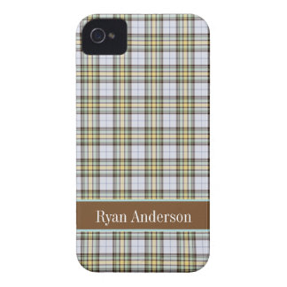 Preppy Brown & Cream plaid pattern iPhone 4/4s iPhone 4 Cover