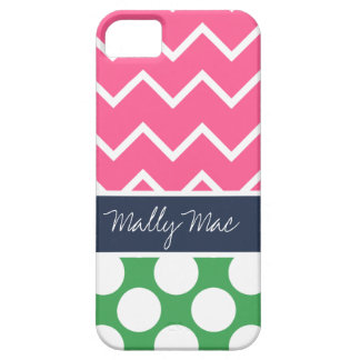 Preppy Chevron Dot Mally Mac iPhone 5  Case iPhone 5 Cover