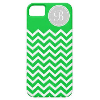 Preppy Chevron Kelly Green Monogram iPhone SE/5/5s Case