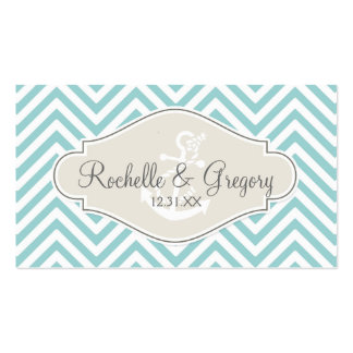 Preppy Chevron Stripe Modern Monogrammed Name Double-Sided Standard Business Cards (Pack Of 100)