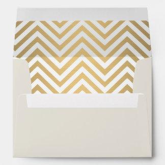 Preppy Chevron Stripe Modern Nautical Anchor Envelopes