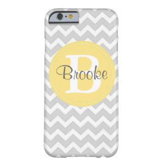 Preppy Chic Chevron Gray and Yellow iPhone 6 case