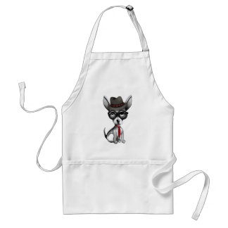 Preppy Chihuahua Adult Apron