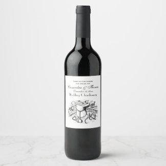 Preppy Equestrian Horse Tack Saddle Bridal Bits Wine Label