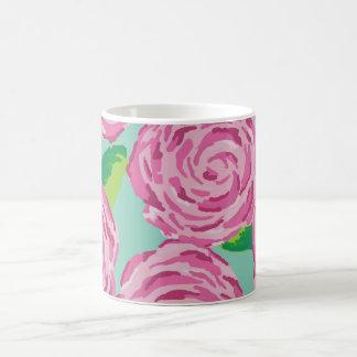 Preppy Floral Print Mug