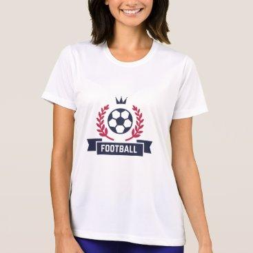 Beach Themed Preppy Football Badge. T-Shirt