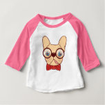 Preppy Frenchie is ready for school in new bow tie Baby T-Shirt