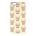 Preppy Frenchie is ready for school in new bow tie Clear iPhone 6/6S Case