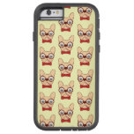 Preppy Frenchie is ready for school in new bow tie Tough Xtreme iPhone 6 Case