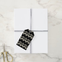 Preppy Girly Pattern Black And White Chevron Gift Tags