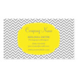 Preppy Gray Yellow Chevron Double-Sided Standard Business Cards (Pack Of 100)