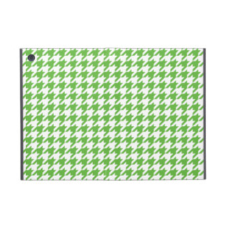 Preppy Green and White Houndstooth Cover For iPad Mini