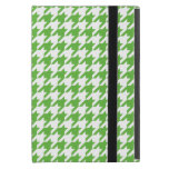 Preppy Green and White Houndstooth Case For iPad Mini