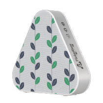 Preppy Green & Blue Leaf Pattern Speaker