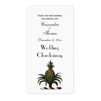 Preppy Heraldic Pineapple Crest Color RWT Label