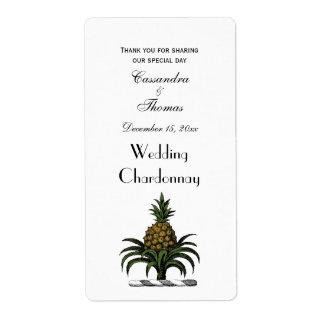Preppy Heraldic Pineapple Crest Color WT Label