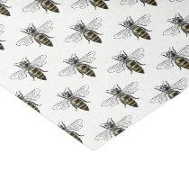 Preppy Heraldic Vintage Bee #2 Coat of Arms C Lg Tissue Paper