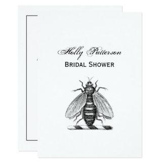Preppy Heraldic Vintage Bee Coat of Arms Emblem Card
