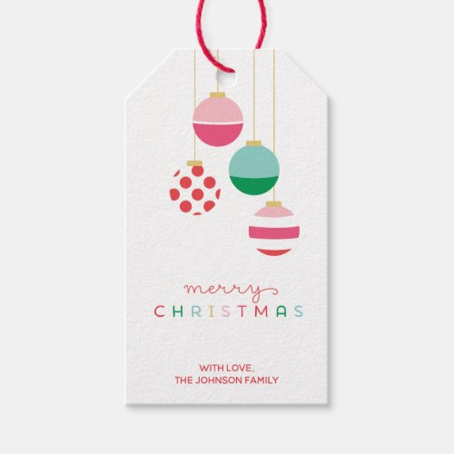 Preppy Holiday Ornament Personalize Christmas Gift Tags