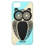 Preppy Ice Stripe Cream Hoot Owl Case For iPhone 5C