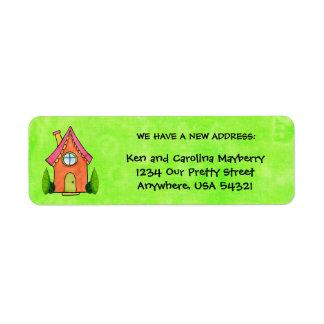 Preppy Lil House New Address Labels