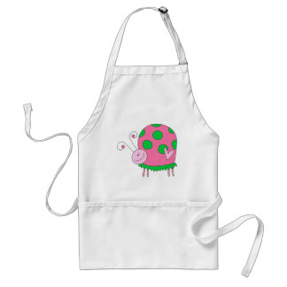 Preppy Lil Pink and Green Ladybug Adult Apron