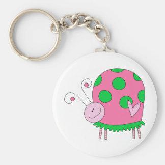 Preppy Lil Pink and Green Ladybug Keychain