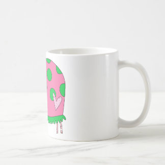 Preppy Lil Pink and Green Ladybug Classic White Coffee Mug