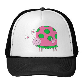 Preppy Lil Pink and Green Ladybug Trucker Hat