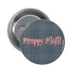 Preppy Misfit Pinback Buttons