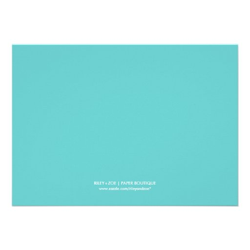 Preppy Modern Chevron Baby Gender Reveal Party Custom Announcements (back side)