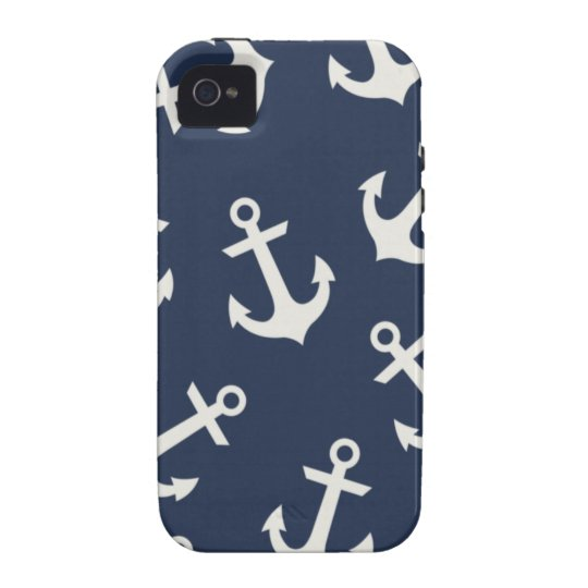Preppy Nautical Anchor  IPHONE 4 4S Case Cover