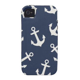 Preppy Nautical Anchor  IPHONE 4 4S Case Cover Case-Mate iPhone 4 Covers