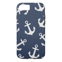 Preppy Nautical Anchor iPhone 7 case  Cover