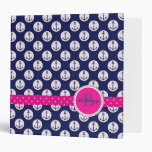 Preppy Nautical/Anchors Binder
