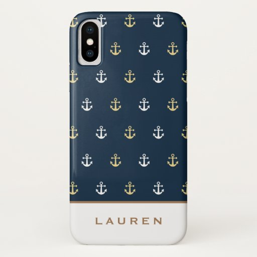Preppy Nautical ⎢Monogram iPhone case